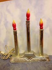 Vintage Christmas Light 3 Candle Window Candolier Holiday Lite Co