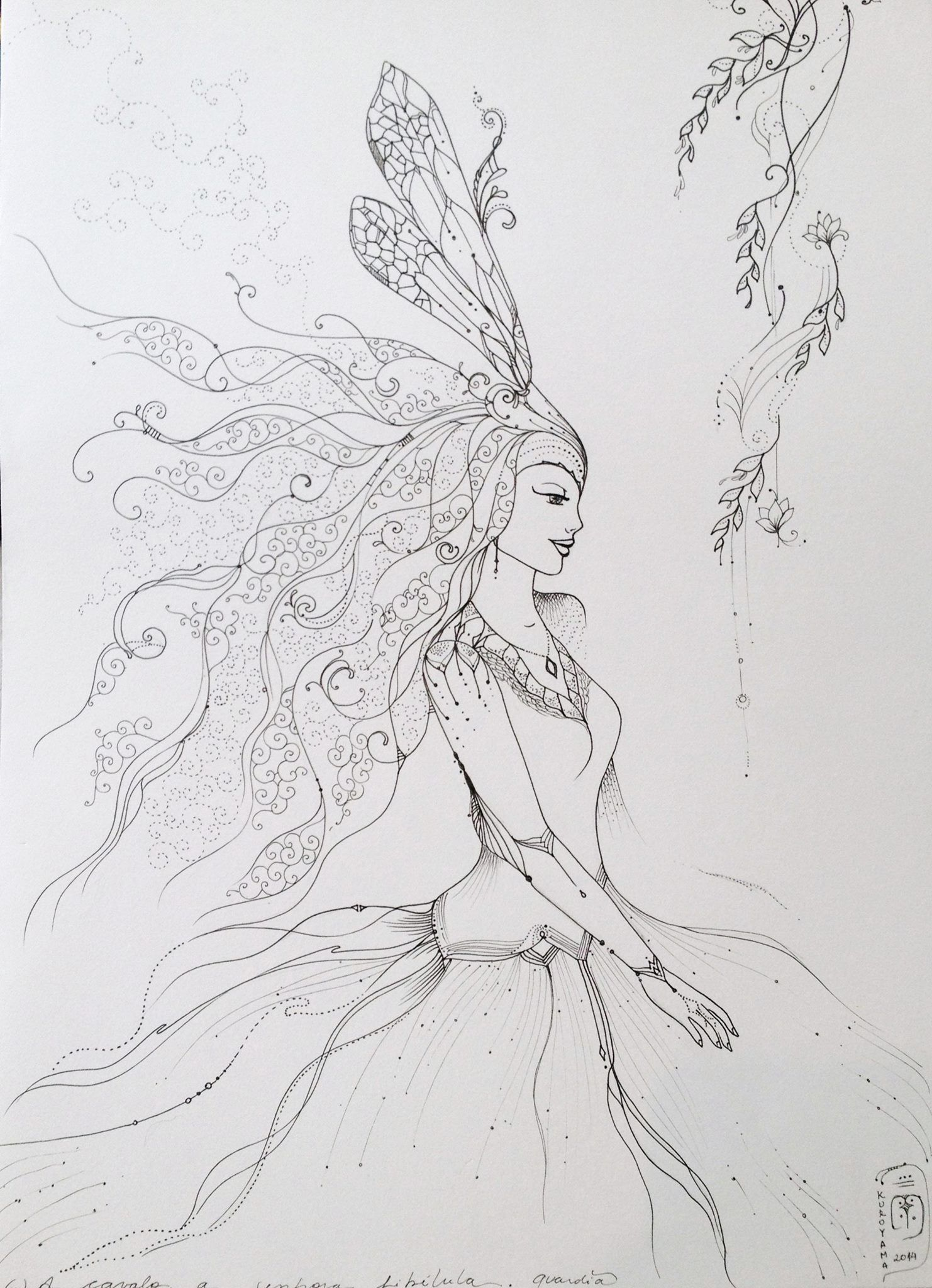 Senhora das libélulas