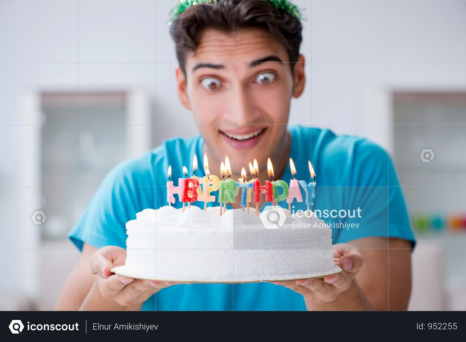 Young Man Celebrating Birthday Alone At Home Photo Home Photo Home Alone Young Man
