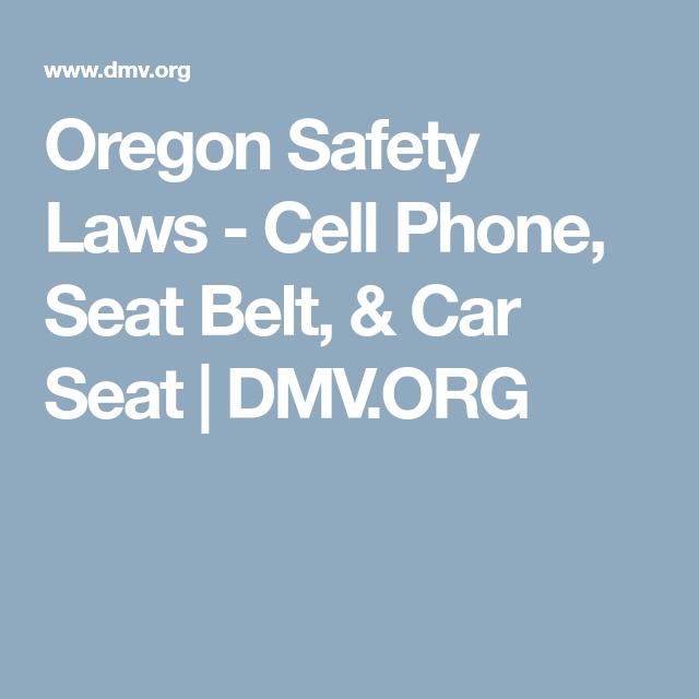 Oregon Safety Laws