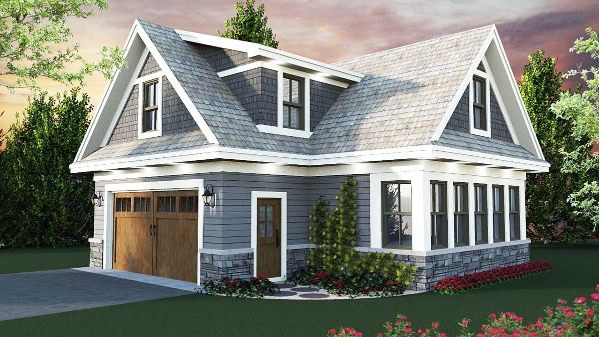 Plan 14653rk Carriage House Plan With Man Cave Potential Carriage House Plans Garage House Plans House Plans