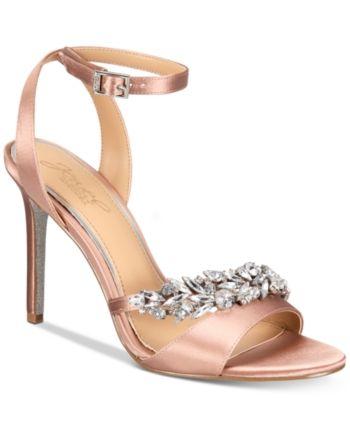 Jewel Badgley Mischka Merida Evening Sandals - Pink 6.5M in 2019 ...