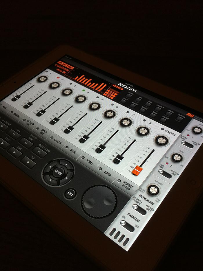 zoom R8 Multitrack recorder App GUI concept Design(이미지 포함