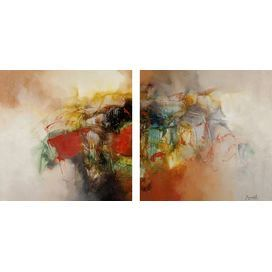 Color Burst 2-Panel Giclee Print