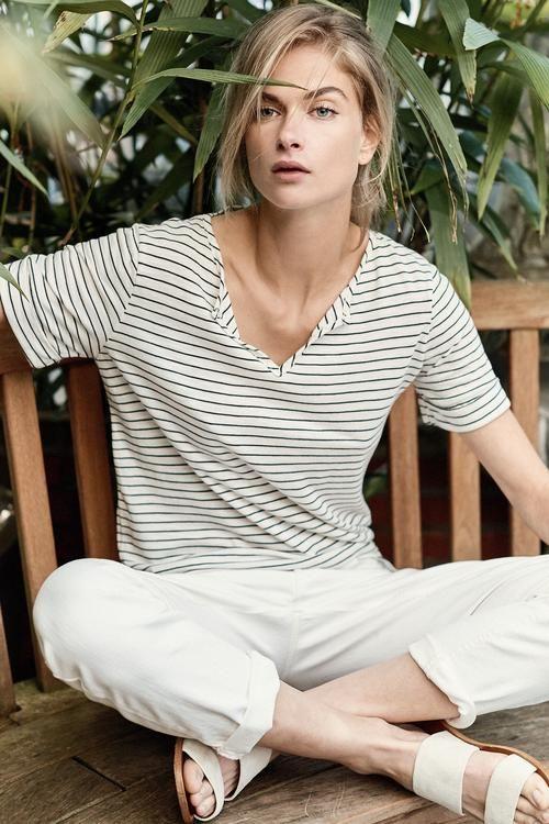 2ff6ba2ccf Tees & Tanks – Amour Vert | Fall Wish List | Striped shorts, White ...