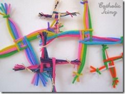 pretty and colorful Brigid crosses