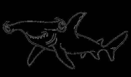 Ahmedatheism Gambar Ikan Hiu Untuk Mewarnai