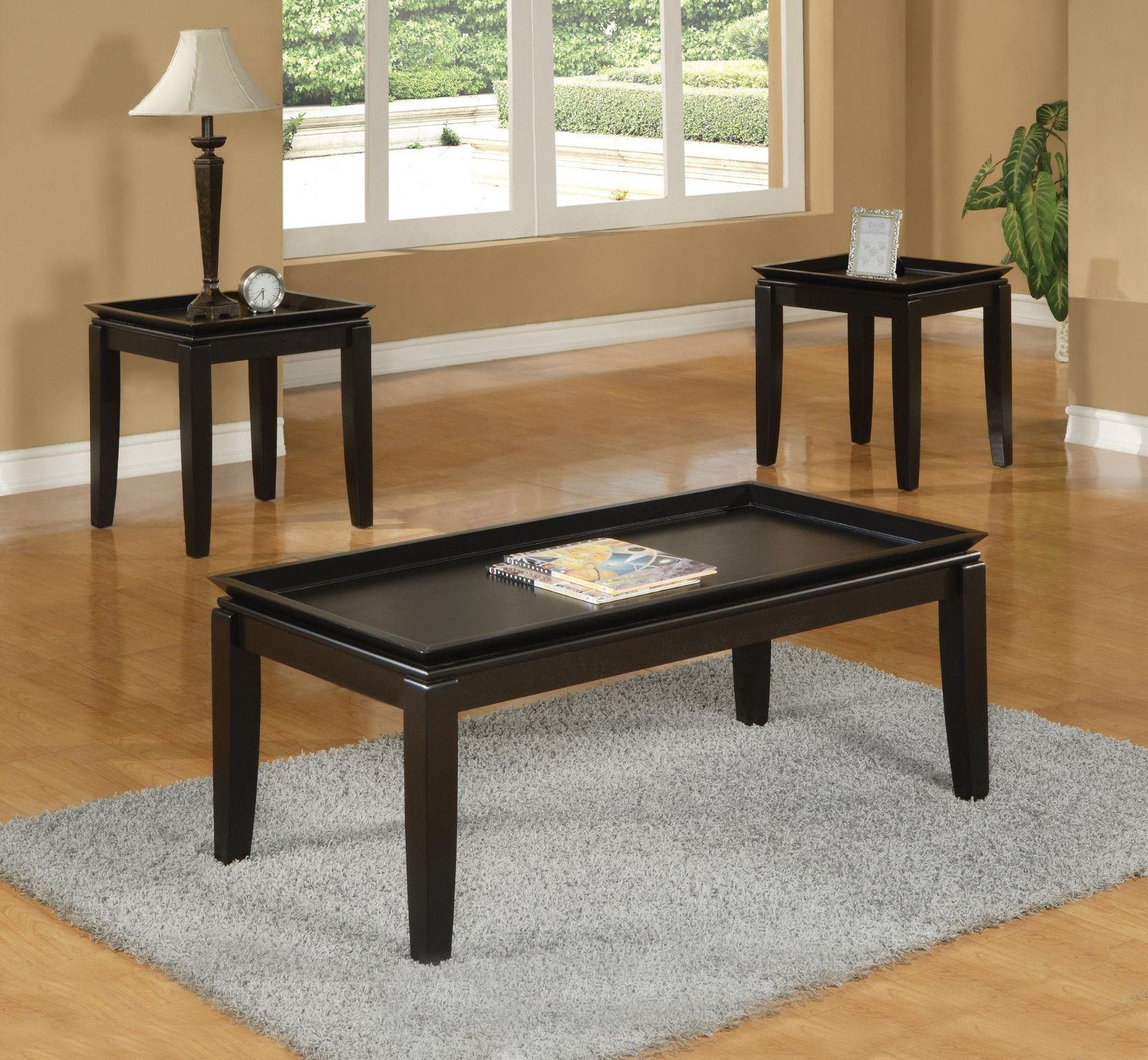 Calla 3 Piece Table Set Coffee And 2 End Tables 249 00 Coffee Table 48 X 24 X 18 H End Tabl Coffee Table Coffee Table Wood Living Spaces Furniture [ 1536 x 1664 Pixel ]