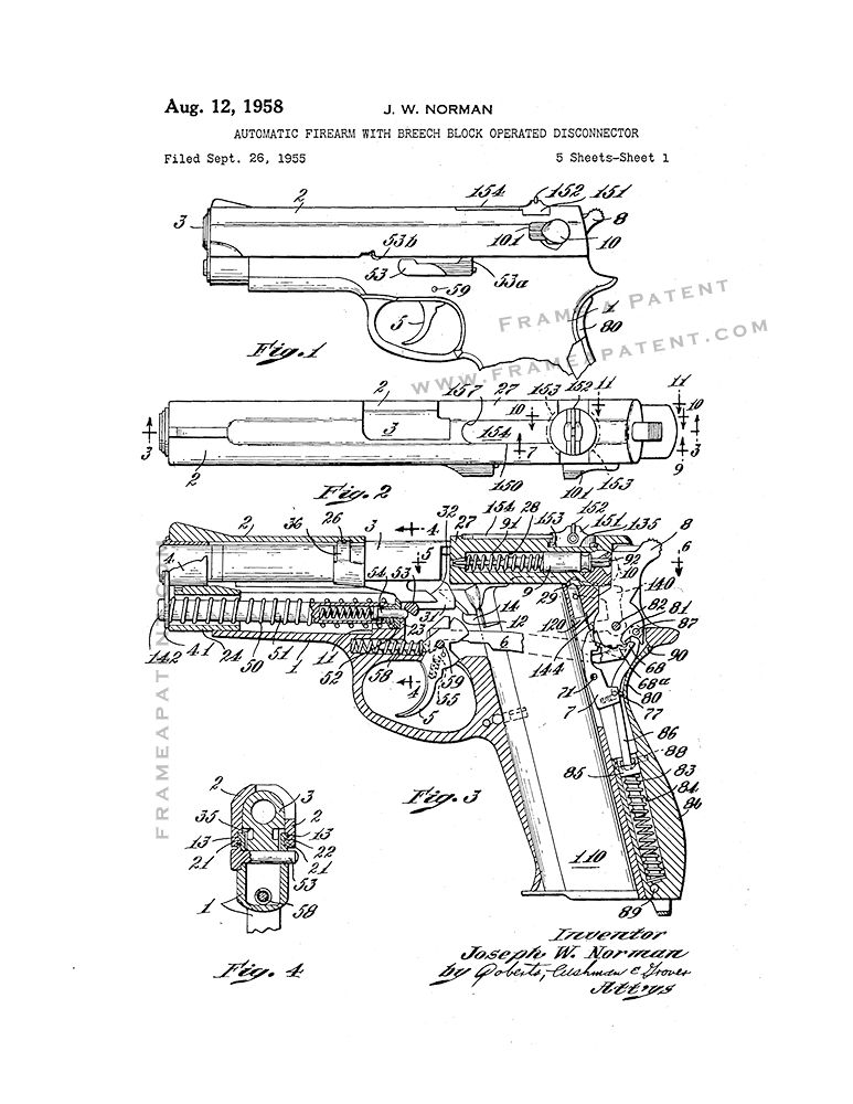 Automatic Firearm With Breech Block Operated Disconnector Patent