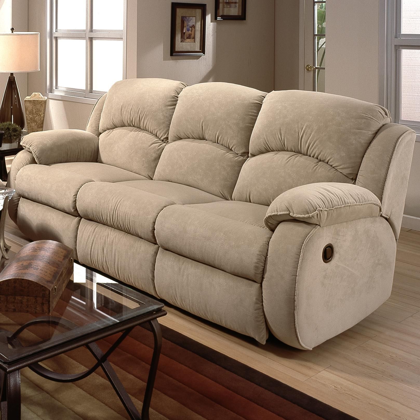 Cagney Powerized Double Reclining Sofa by Southern Motion : motion recliner sofa - islam-shia.org