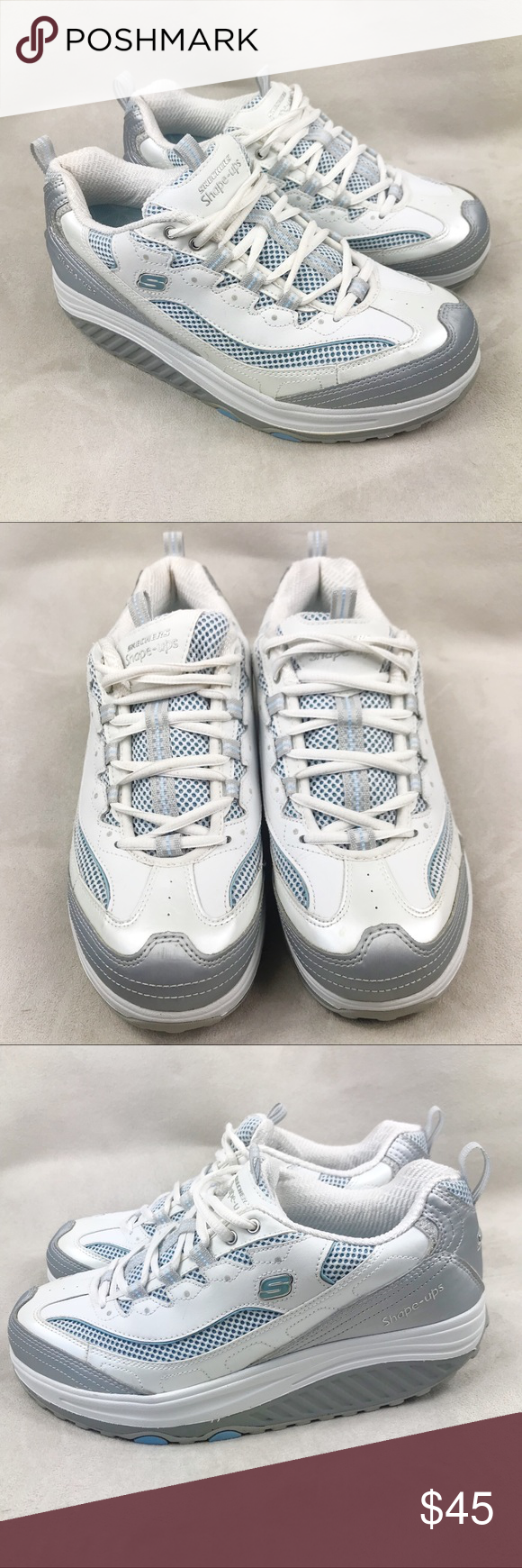 aefdf6054592 Skechers Shape Up Jump Start Walking Sneaker 10 Skechers Shape Up Jump  Start Fitness Walking Sneaker Women s size 10 White with silver