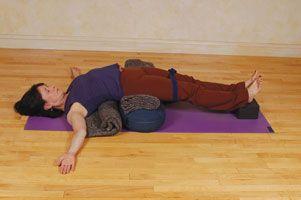 supported bridge pose  restorative yoga sequence