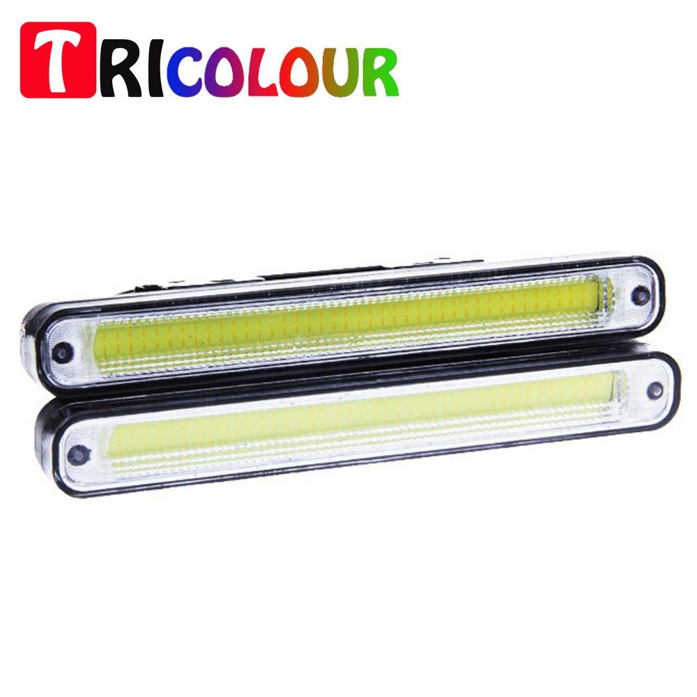 Cob Led Verlichting 1pair 20cm Ultra Thin 12w Cob Led Daytime Running Light Led Diy