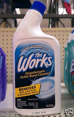 The Works Toilet Bowl Cleaner Disinfectant 28 Oz Toilet