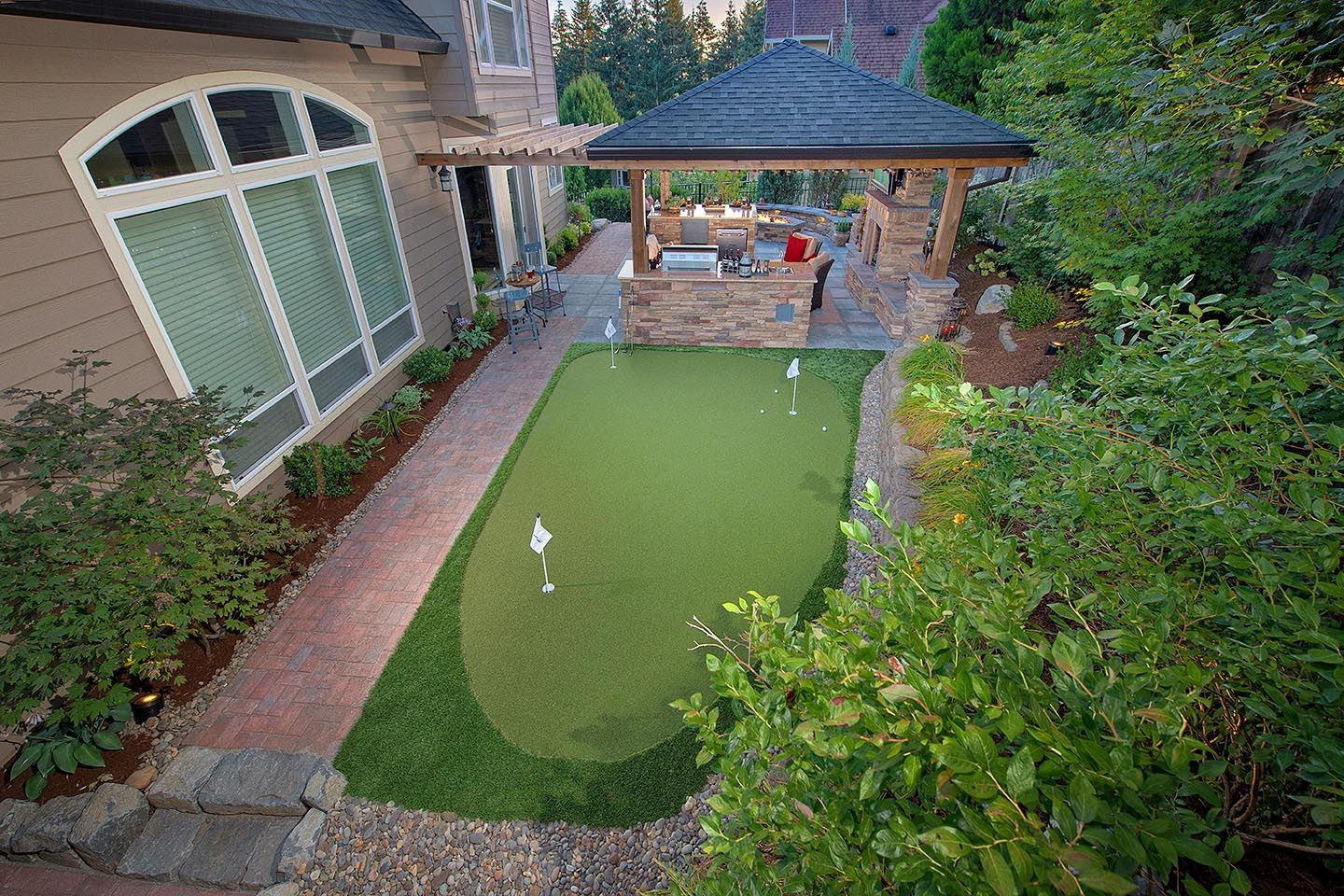 Staycation Landscape Design In Camas, Washington, By Paradise Restored  Landscaping U0026 Exterior Design In