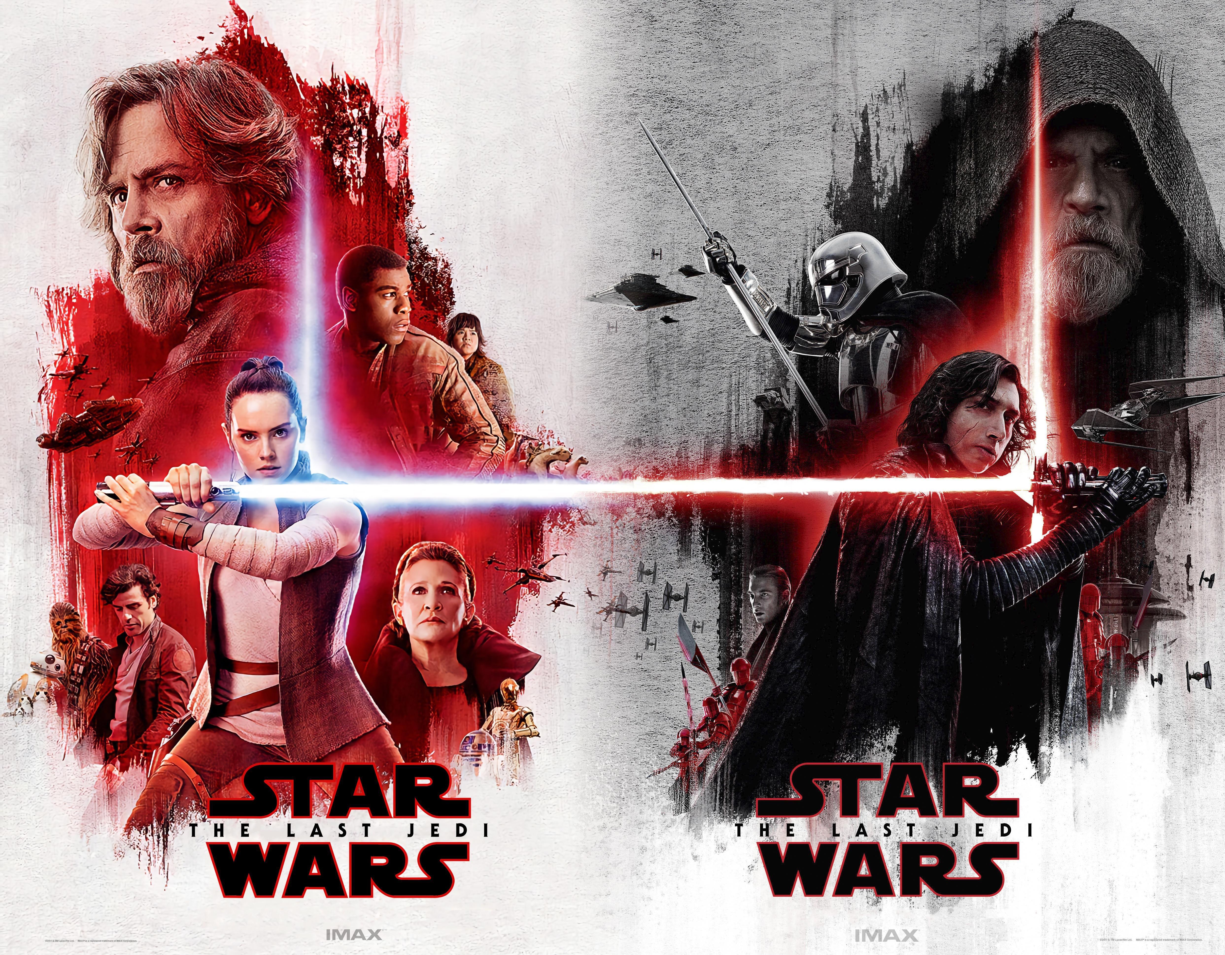 STAR WARS; THE LAST JEDI Movie PHOTO Print POSTER Rise Skywalker Set of 4 IMAX