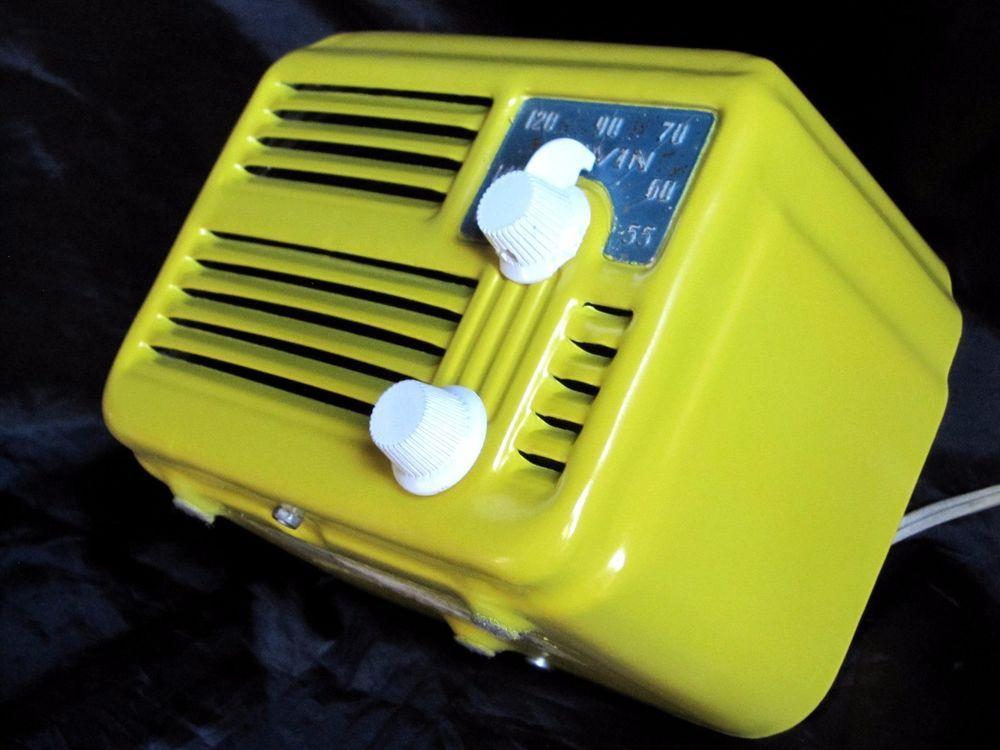 "Arvin ""Metal Midget"" radio m-444 Repainted,Beautiful tiny compact 4 tube c-1947!"