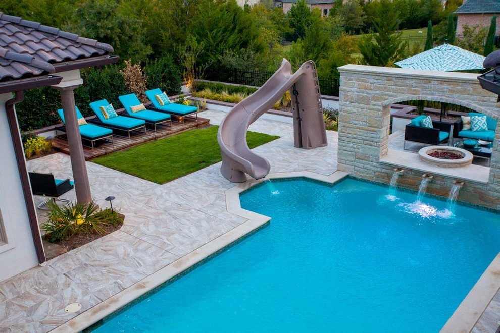 dallas-outdoor-chaise-lounge-with-metal-path-lights-pool ...