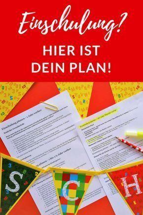 Einschulung planen-mit diesem Plan kommt keine Panik auf! - Erste Klasse #schoolparties