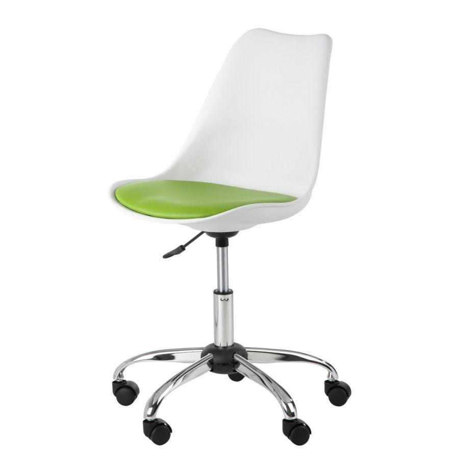 Chaise pivotante pour enfant Lana blanche vert pomme 60 FDPC