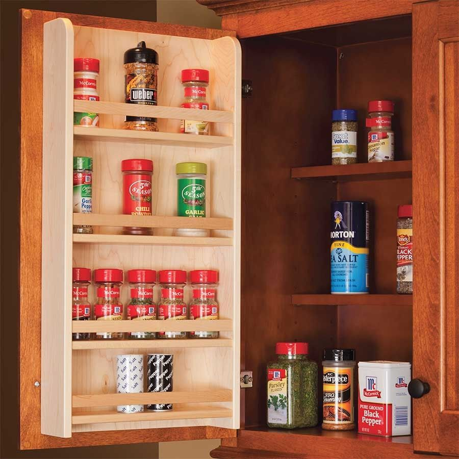 Century components door mount spice rack 18 wide sras18pf organize and store spices conveniently on a cabinet door close at hand order today