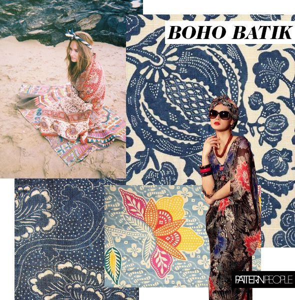 Straight from pattern peoples studio the boho batik print trend brings a beachy update to winters ethnic pattern directions