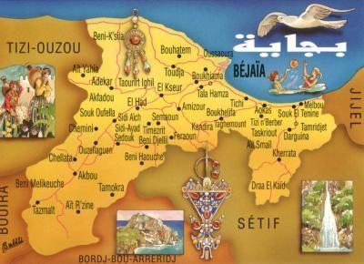 Kabylie carte du monde