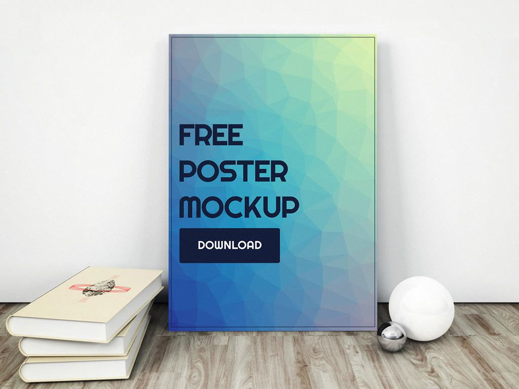 Poster design dimensions - A Beautiful Presentation Mockup For Poster Designs Or Photography Psd File With Smart Objects