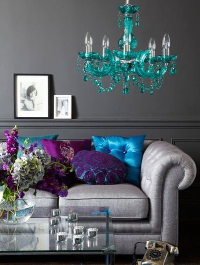 purple gray and turquoise is a wonderful color the color combo but i know my hubby would never go for that purple gray and turquoise is a
