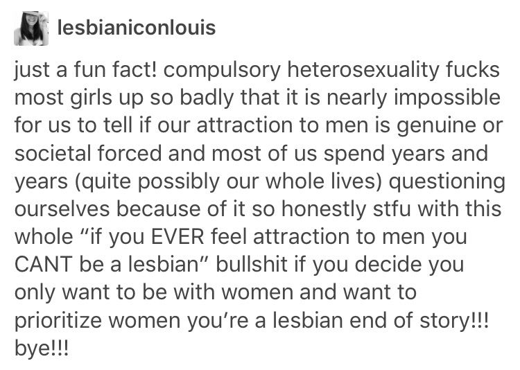 Compulsive heterosexuality tumblr