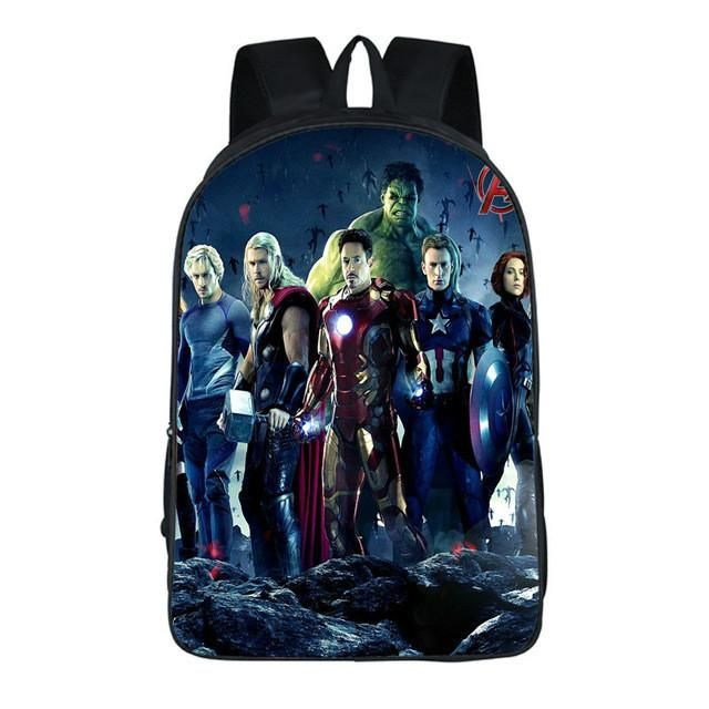 91e288316f Pacento Designer The Avengers Backpack School Bags Boy Bags Shield Captain  America Kids Backpack Fashion Leisure Backpack Cool
