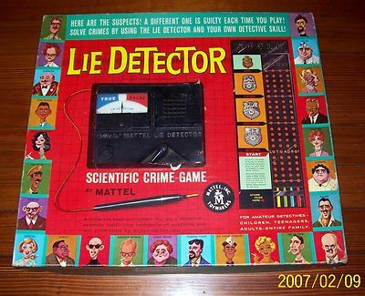 Mattels Lie Detector Game 1960s Board Games Pinterest