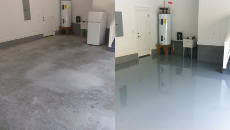 Epoxy Floor Painting Works 39661095 Bin Khalil Contractors 33406970 Expatriates Com In 2020 Epoxy Floor Flooring Garage Floor Epoxy