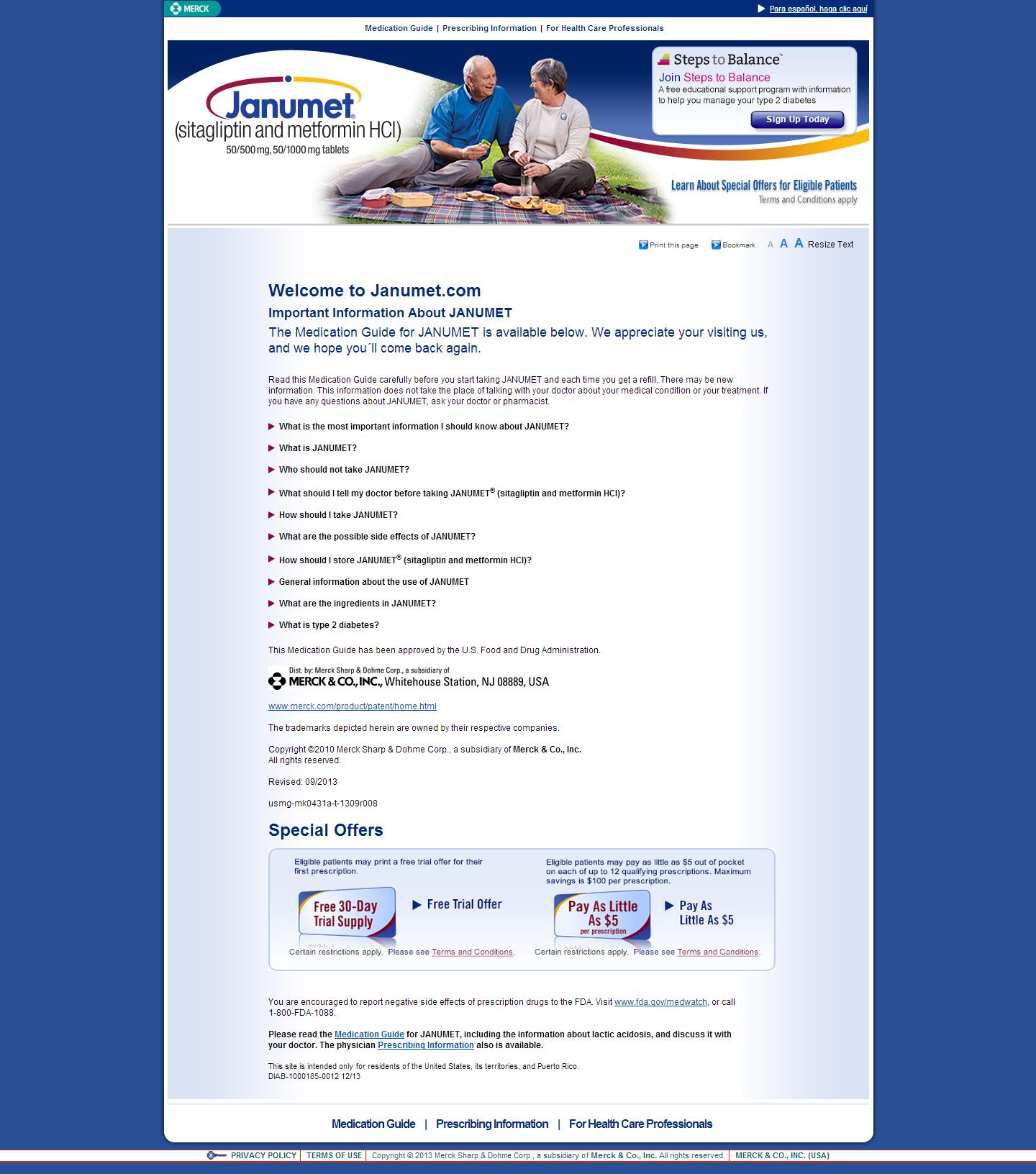 Janumet Informative Merck Co Medical