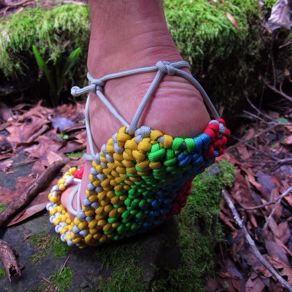 Paracord Bush Sandals #550paracord #550cord #paracordial #paracord…
