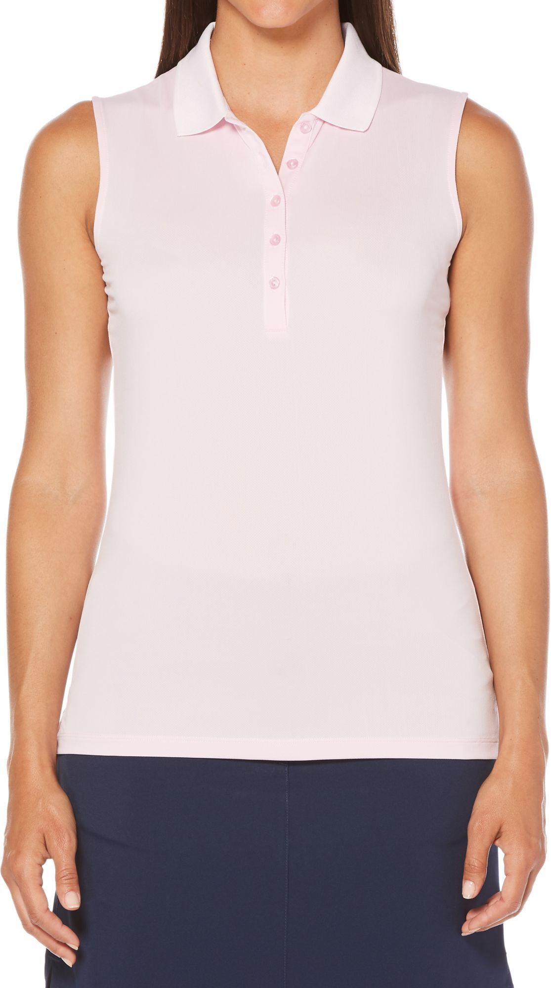 Callaway Mens Cooling Solid Micro Hex Polo