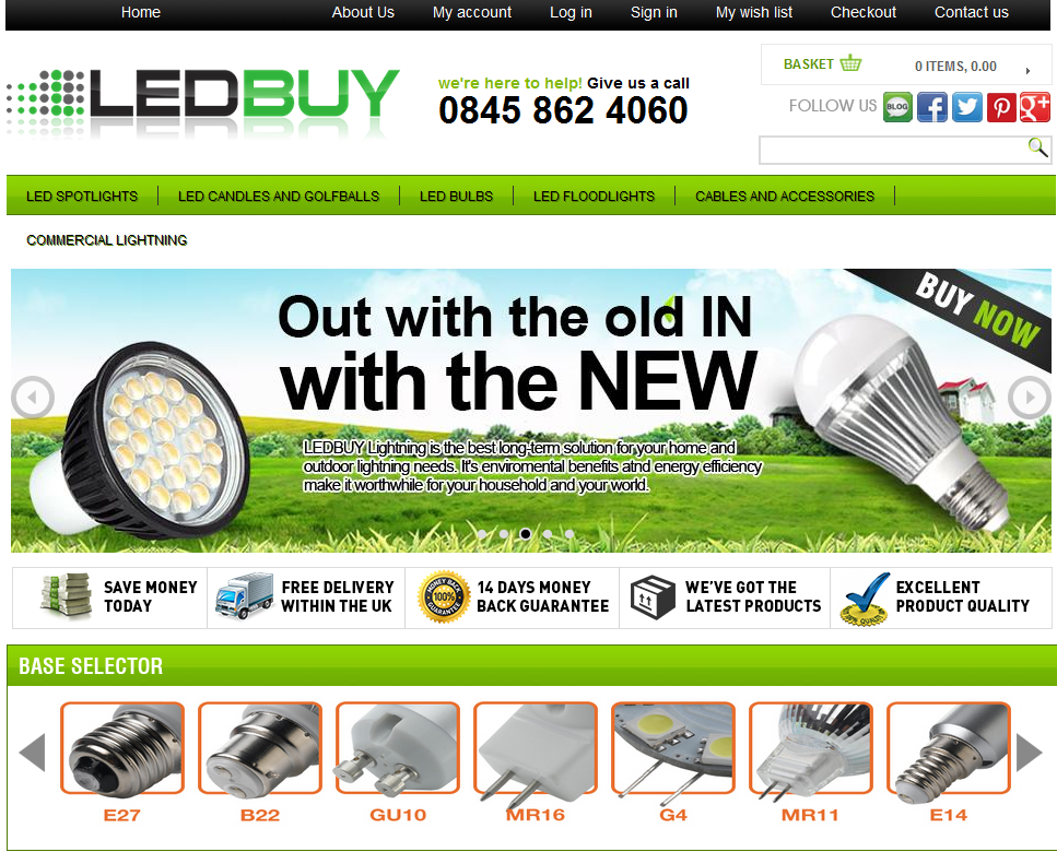 Led Buy a UK based Magento Store dealing in wide range LED lights #design and #developed by @estoreseller with identical #ebaystore #magentostoredesign #magento #store #designers