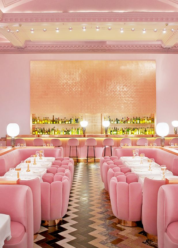 Sketch Pink Room Interior Restaurant Interior Design