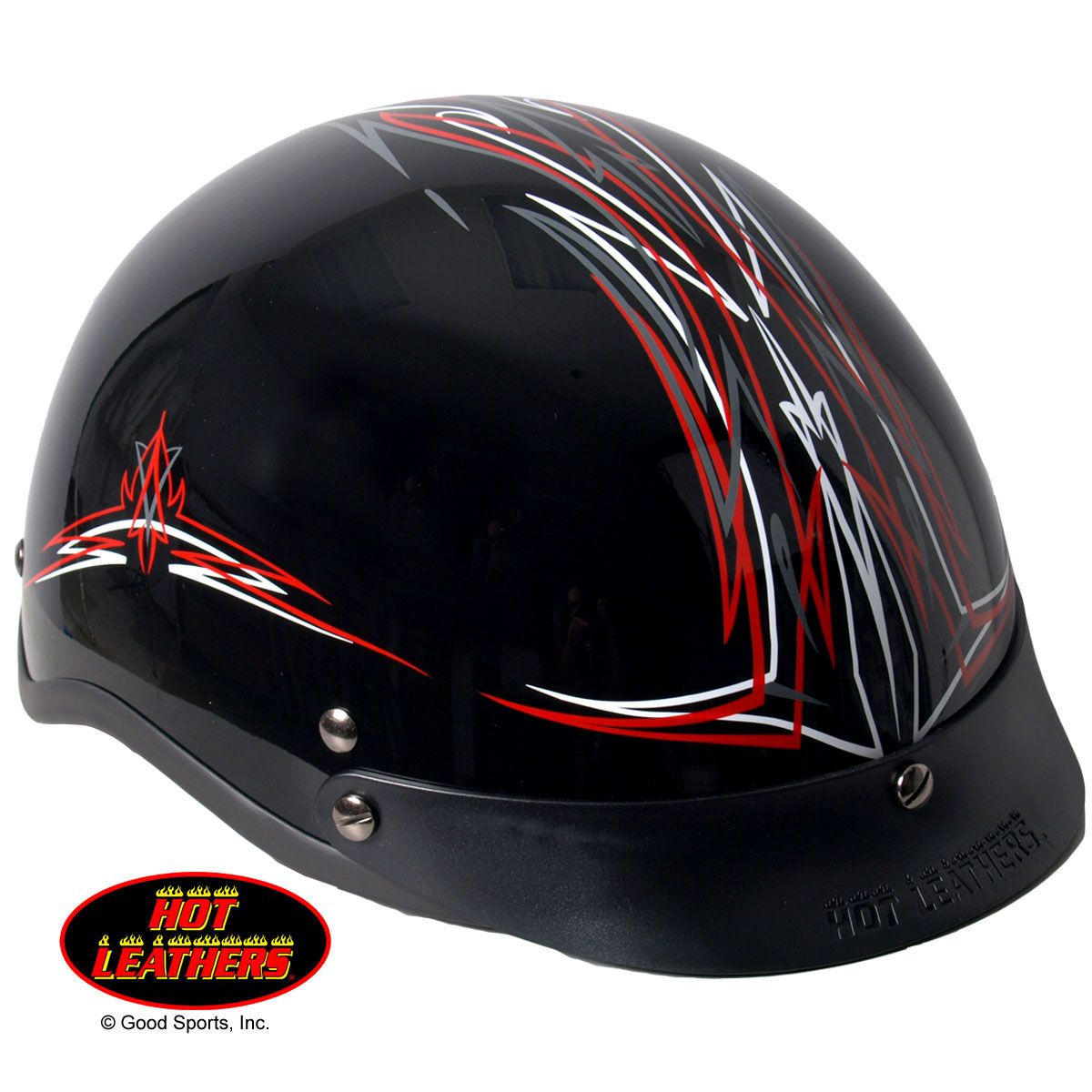 863ba4d2661 Hot Leathers Pinstripe Motorcycle Helmet - would match my new bike ...