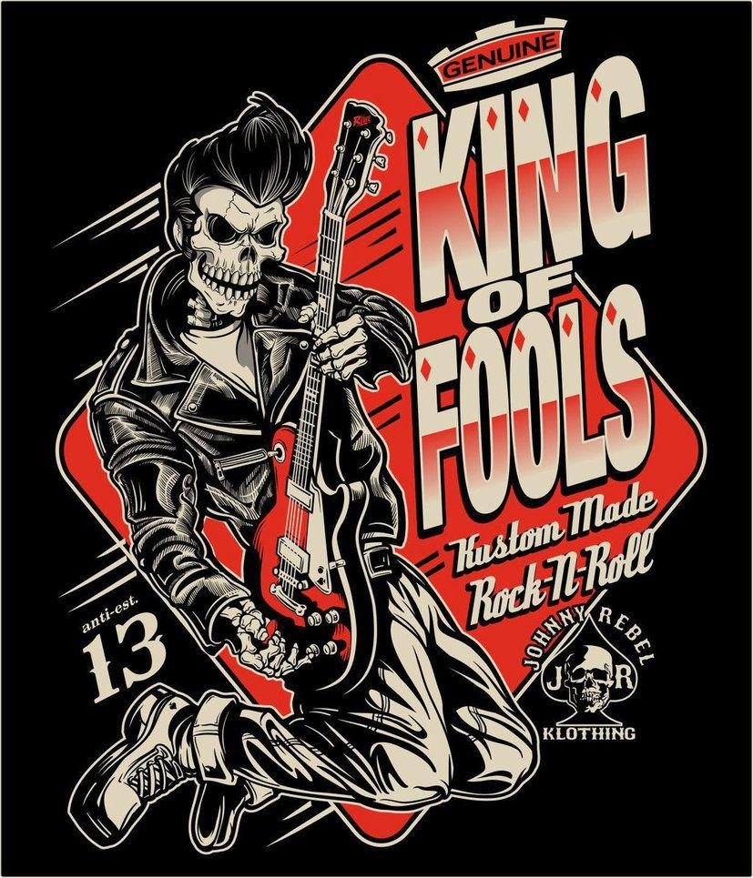 Design t shirt artwork - Johnny Rebel T Shirt Design King Of Fools By Russellink
