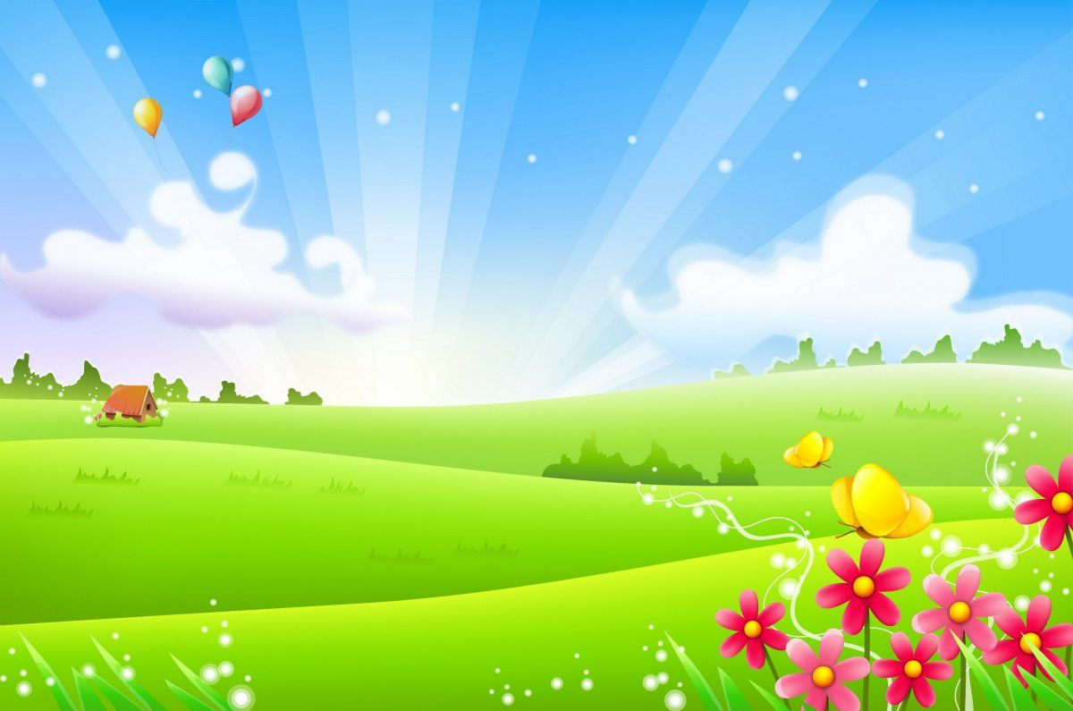 Multyashnye Fony 62 Foto Cartoon Garden Photoshop Backgrounds Free Powerpoint Background Design