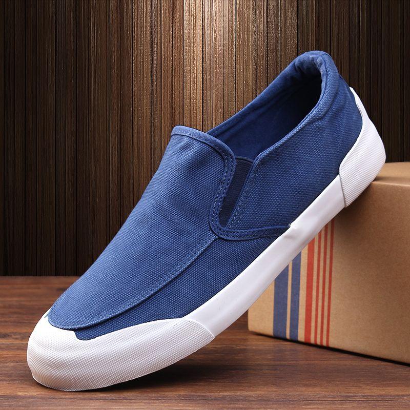 52a0229e104f New Arrival 2017 Men Canvas Shoes British Style Men`s Casual Shoes Mens  Flat Breathable