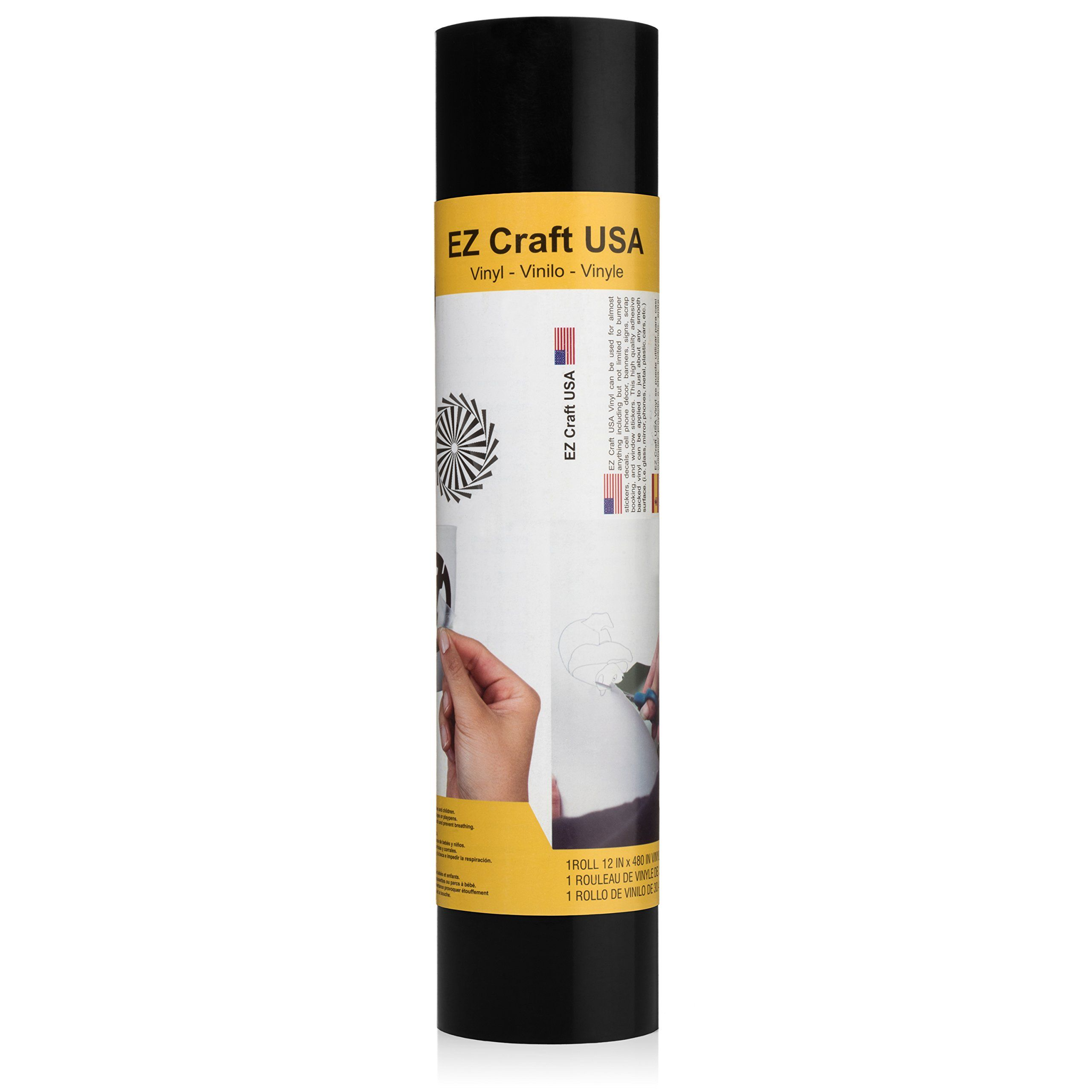 Styletech 498 Matte Black Permanent Adhesive Vinyl Roll 12 By 15 Feet For Signs Scrapbooking Cricut Silhouette Vinyl Rolls Adhesive Vinyl Silhouette Cameo