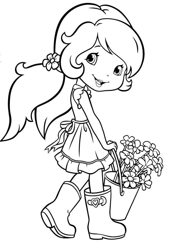 Strawberry Shortcake Gardening | Coloring pages ~ kids | Pinterest ...