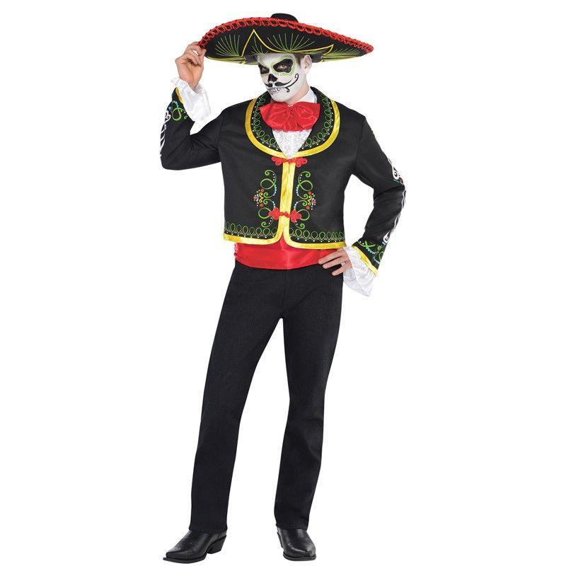 Pour votre soirée costumée, faites dans l'originalité avec ce costume de squelette mexicain ! Un costume typique de la tradition du jour des morts qui fera pâlir d'envie tous vos proches !