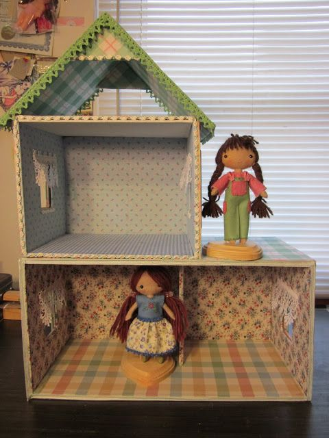 By Hook, By Hand: Wren's Nest; a cardboard cottage dollhouse