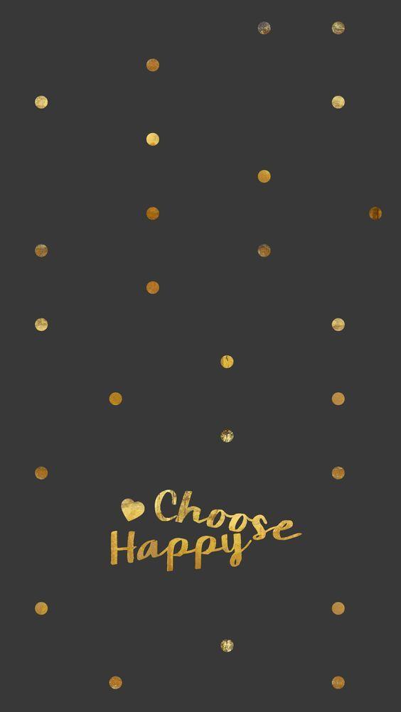 Billedresultat for gold happy iphone wallpaper