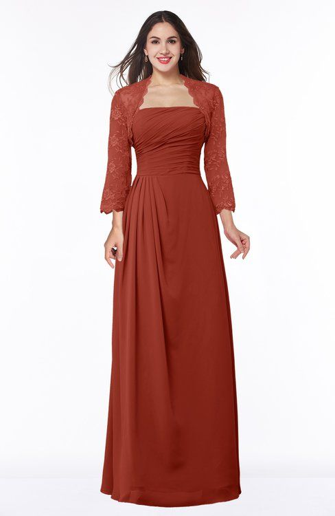 4ffd06649e63 ColsBM Camila Rust Modest Strapless Zip up Floor Length Lace Mother of the  Bride Dresses