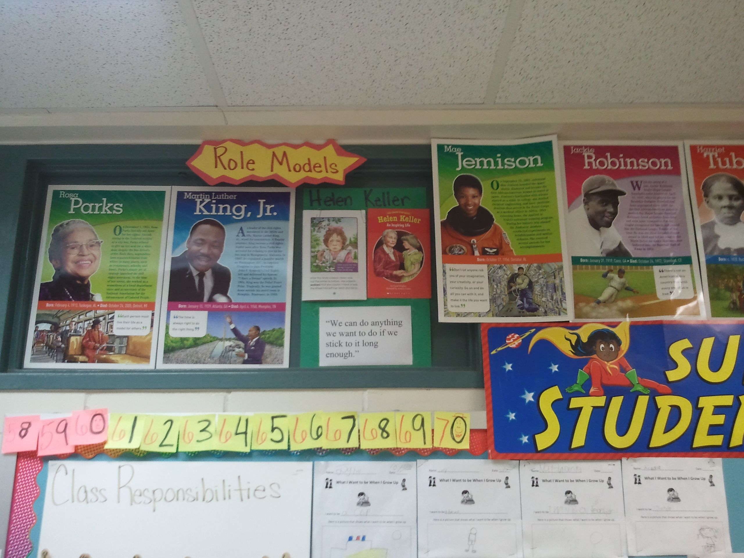 My Role Models Wall I Used In 2nd Grade