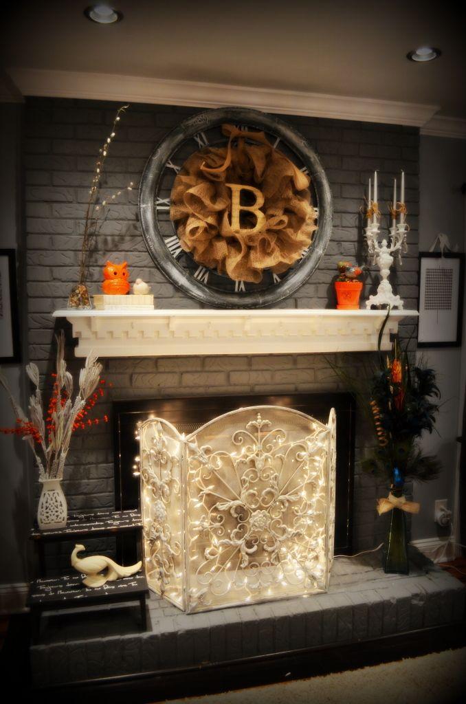 brick fireplace decor on cleaning brick